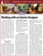 Working with an Interior Designer Article